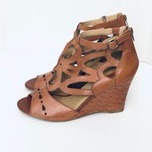 Miz Mooz Tallis Leather Cutout Wedge Sandals